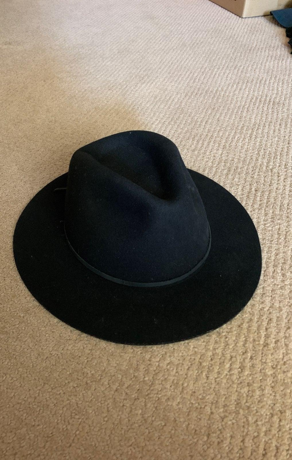 Brixton Fedora - BLACK - Size 7 - Small