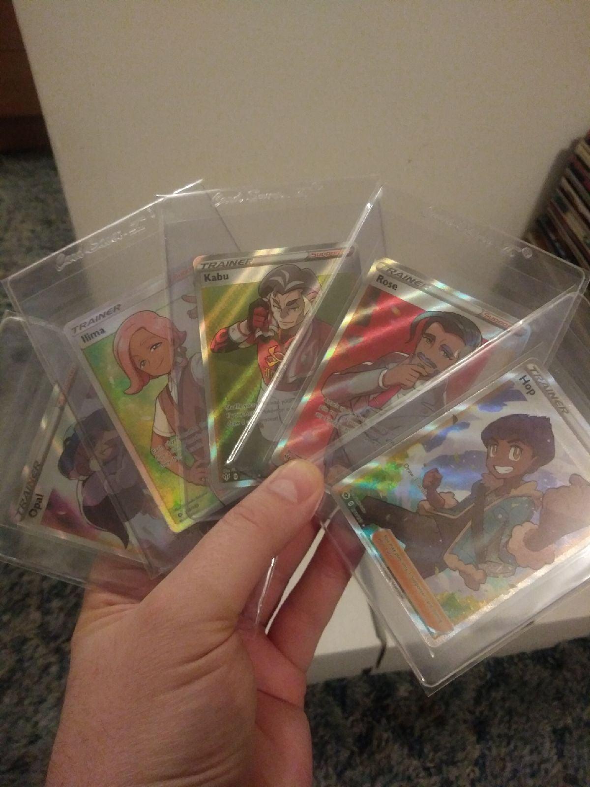 lot of 5 full art trainer cards mint