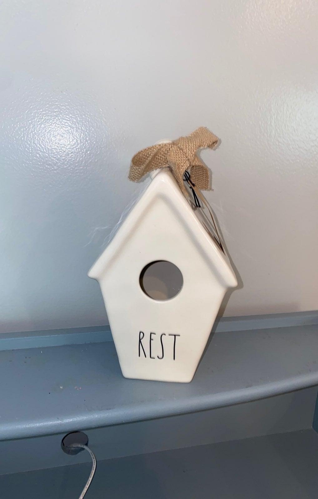 Rae Dunn Rest birdhouse