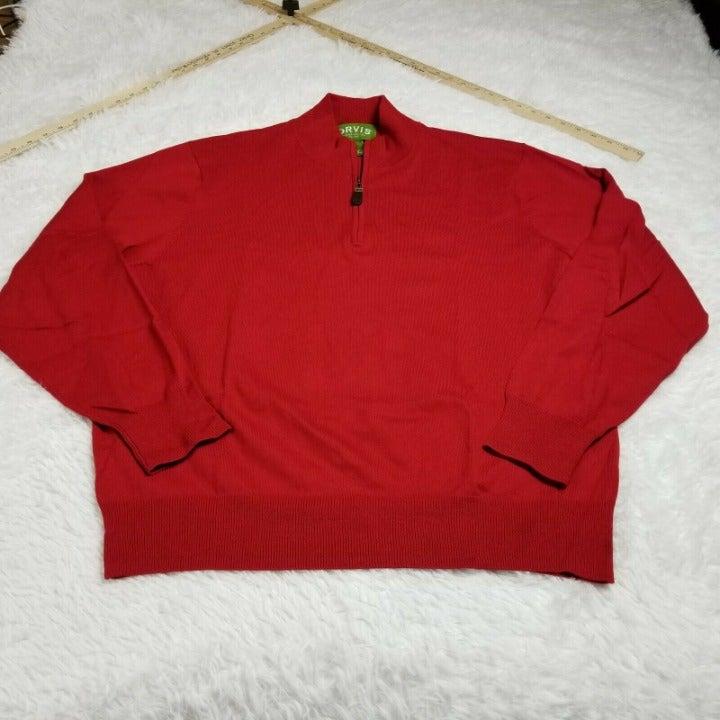 Orvis Mens Silk Blend 1/4 Zip Pullover