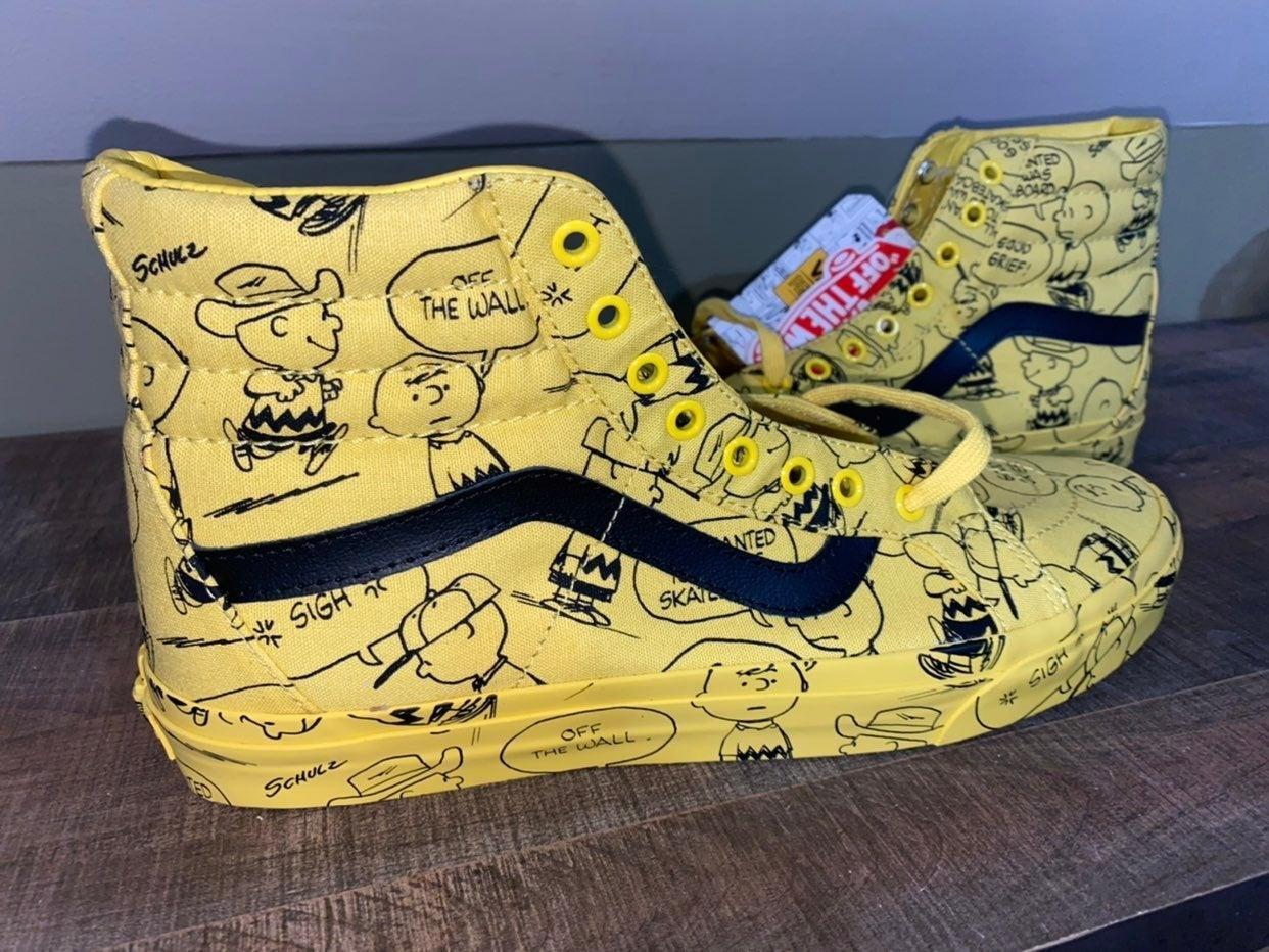 Vans Sk8-Hi Peanuts Charlie Brown shoes