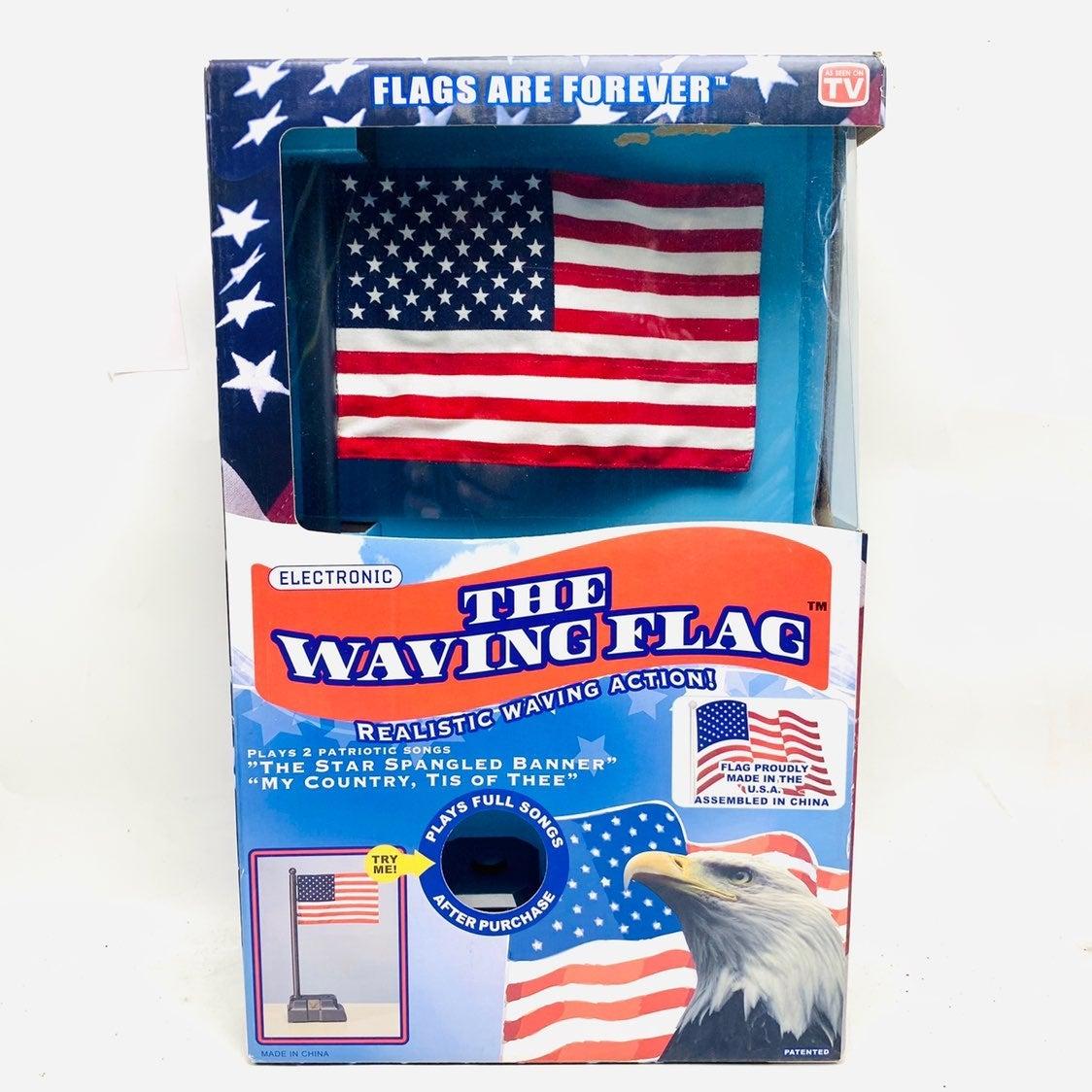 The Waving Flag Electronic American Flag