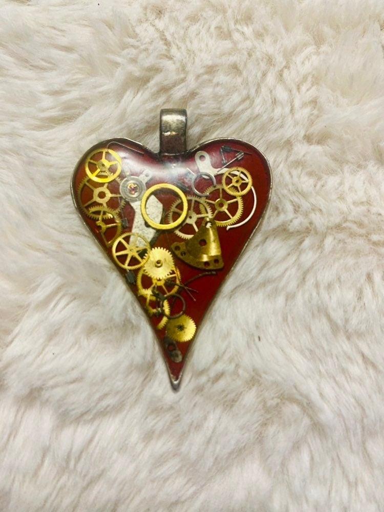 Steampunk heart pendent