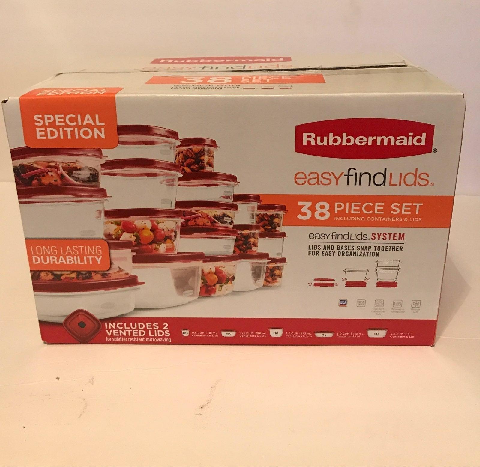 Rubbermaid special edition 38 piece set