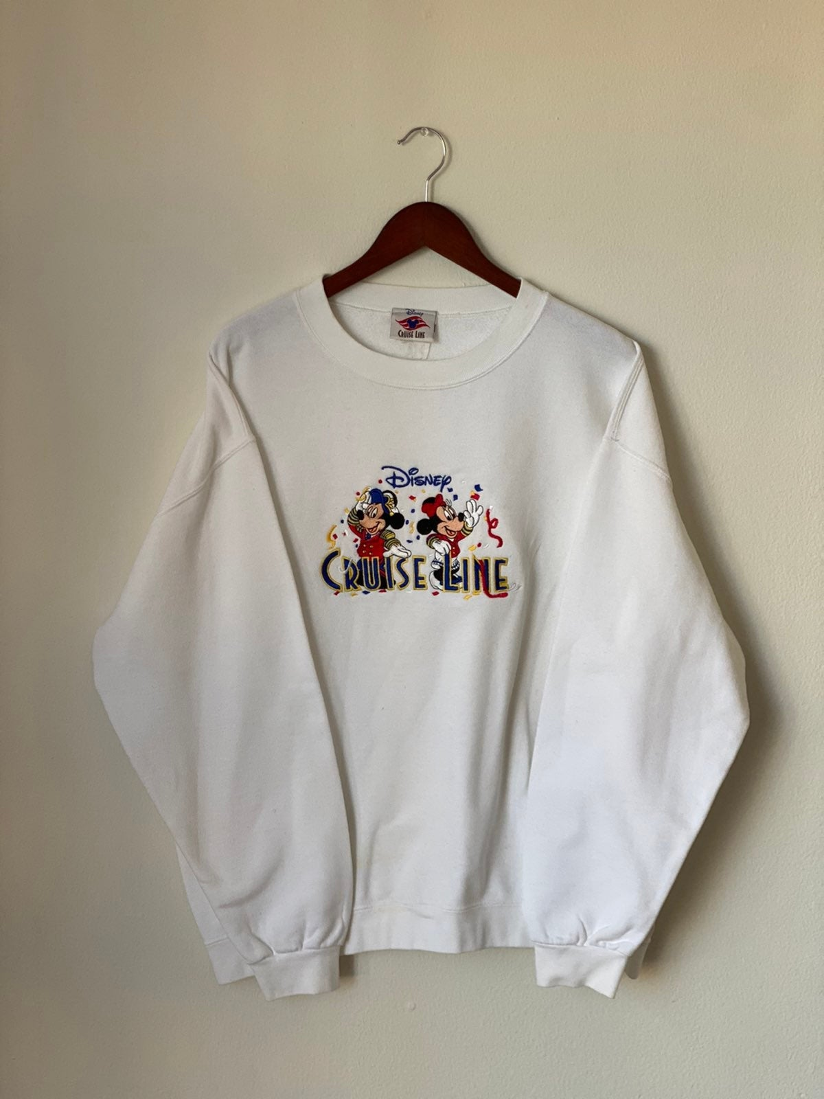 Vtg 90s Mickey & Minnie Cruise Sweater