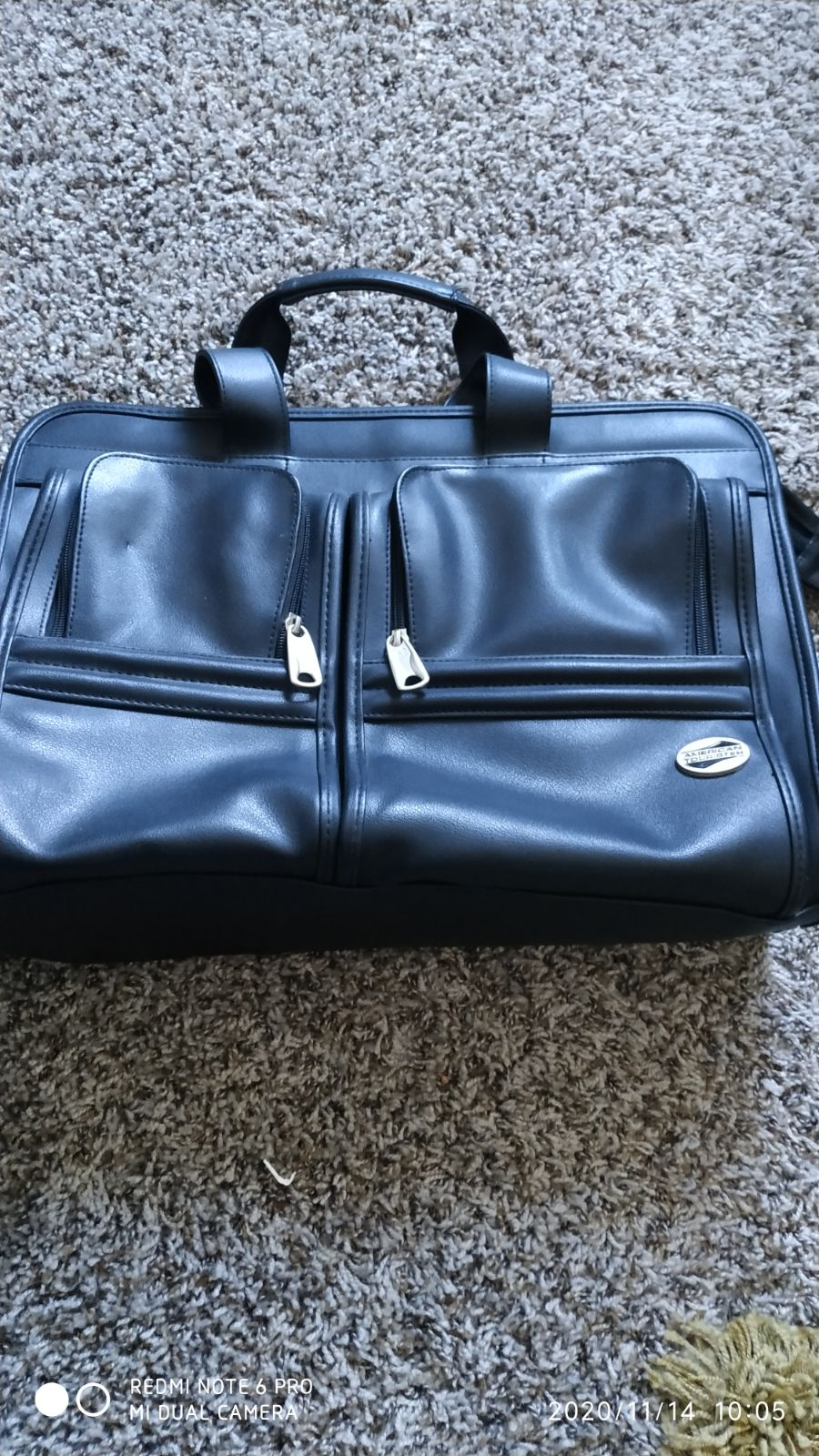 Laptop/office leather bag