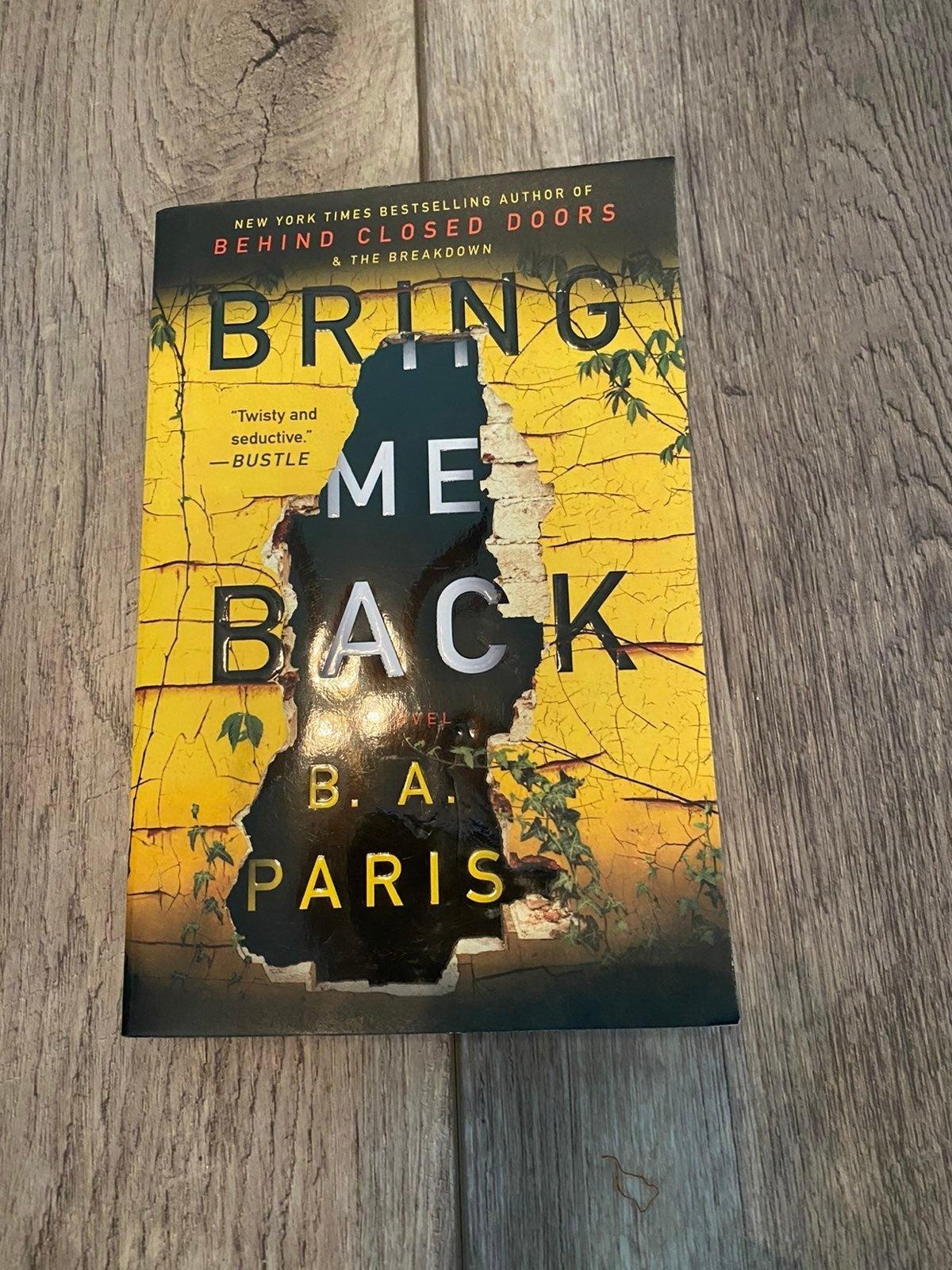 Bring me back B A Paris