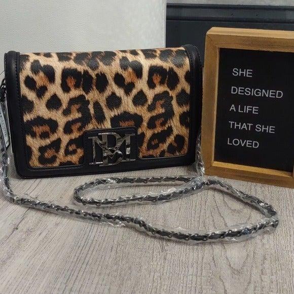 Badgley Mischka Leopard Clutch Handbag