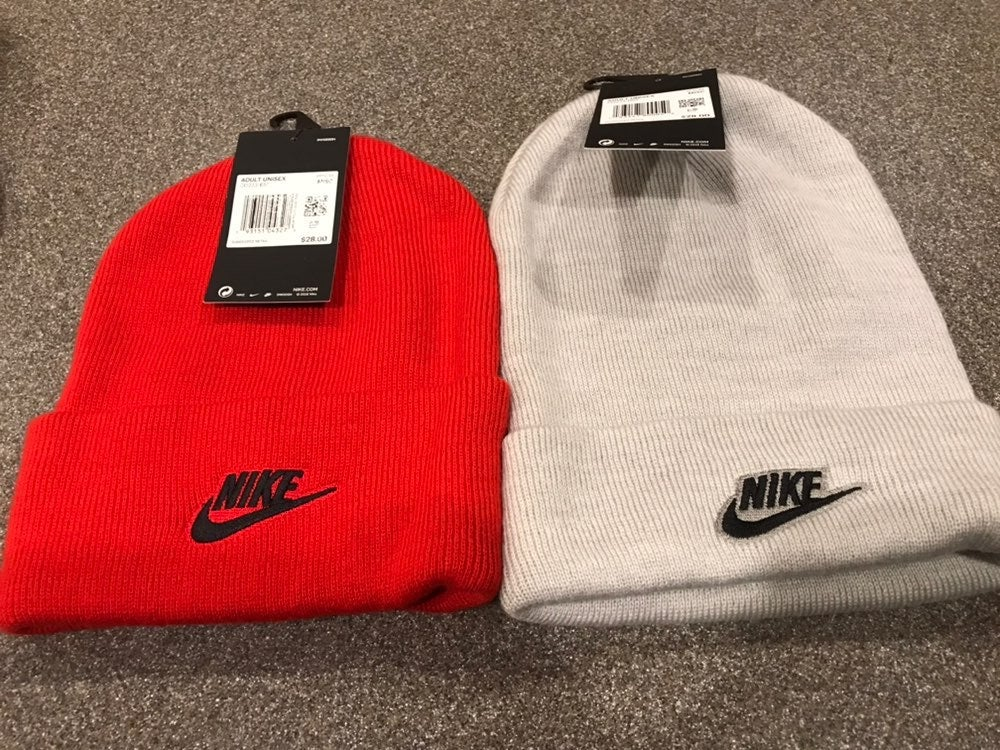 Nike Skull Cap Red & Gray Set