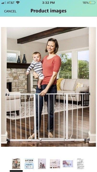 Easy Open Walk Thru Baby Gate 1183