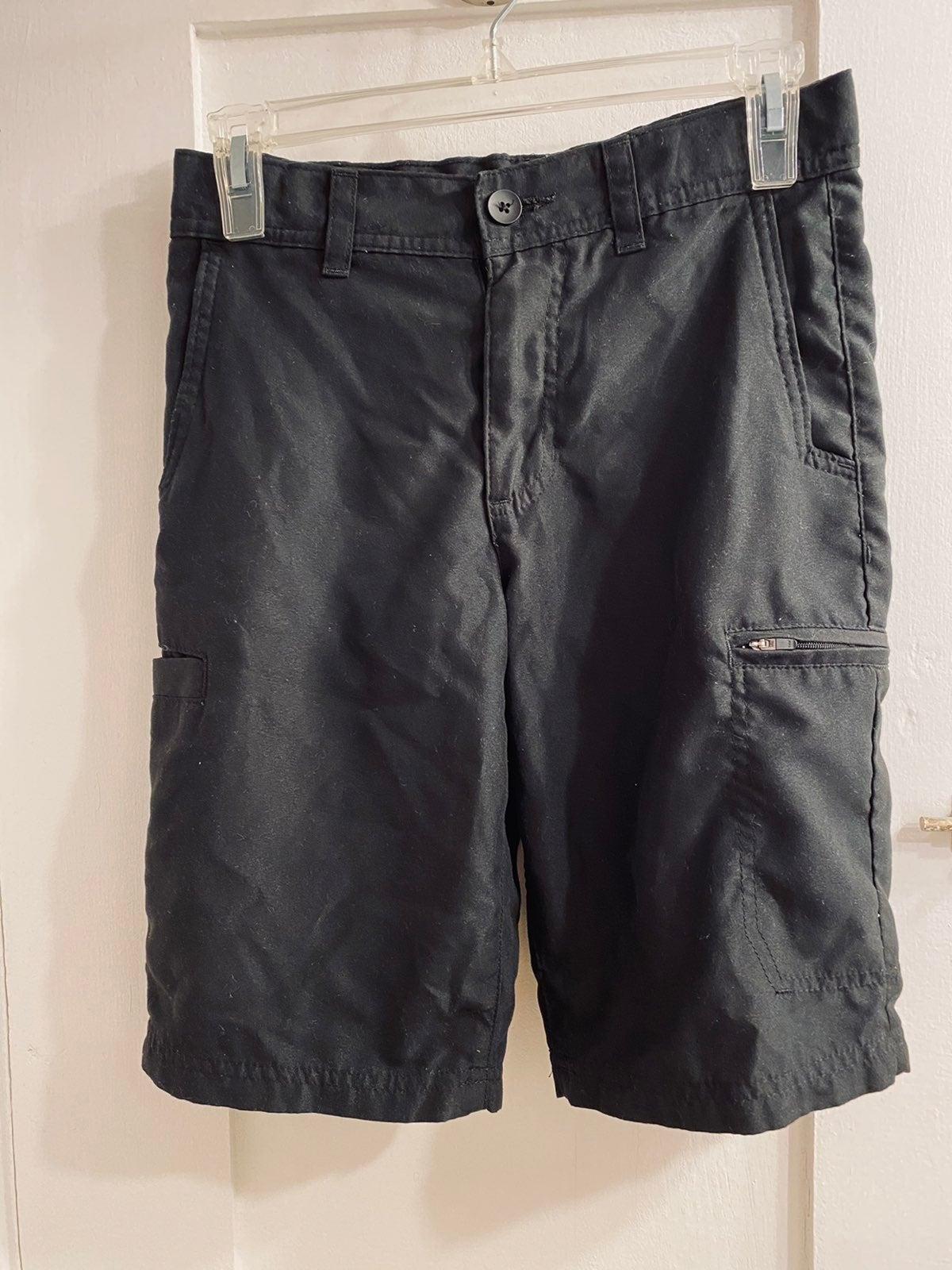 Boys black cargo shorts