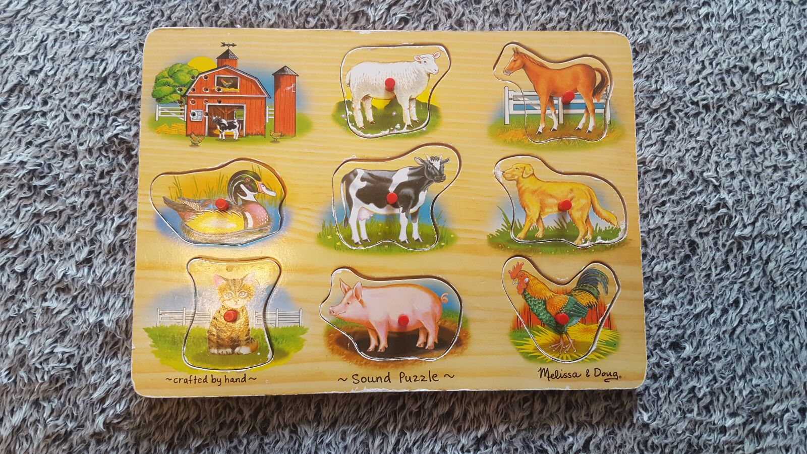 Melissa and Doug Wooden Farm Sound Puzzl