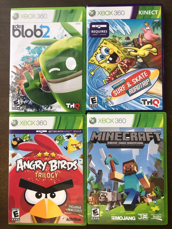 Xbox 360 4 game lot w/ Minecraft