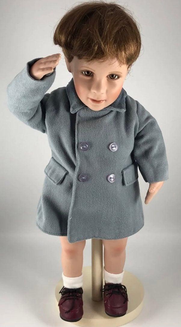 A Farewell Salute JFK Jr Porcelain Doll
