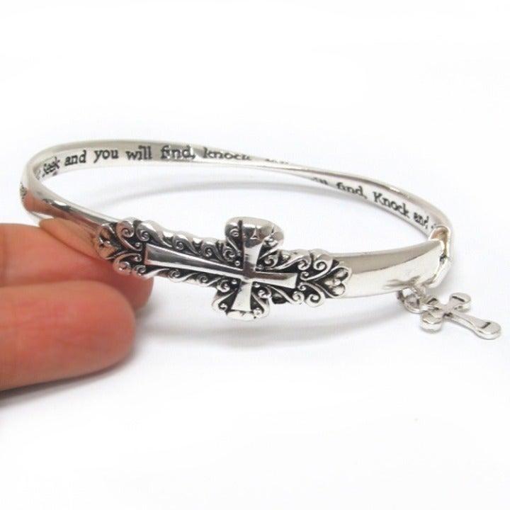 Cross Scripture Religious Bracelet
