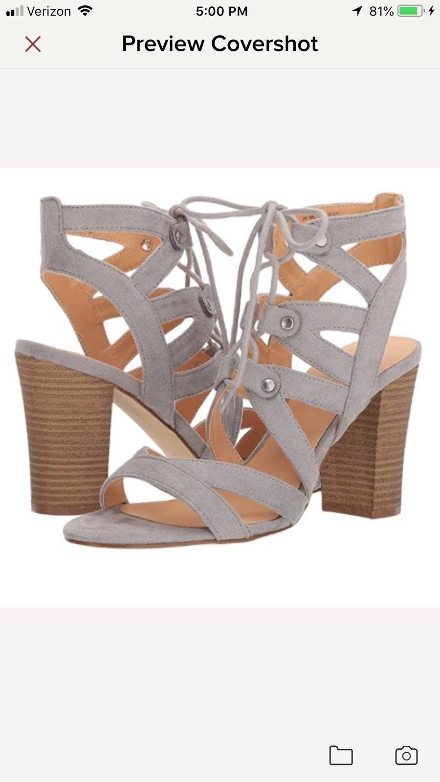 XOXO Balta Gray Gladiator Sandals