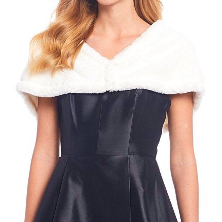 Calvin Klein Faux Fur Shrug XL NWT