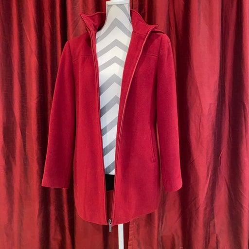 Calvin Klein red wool peacoat