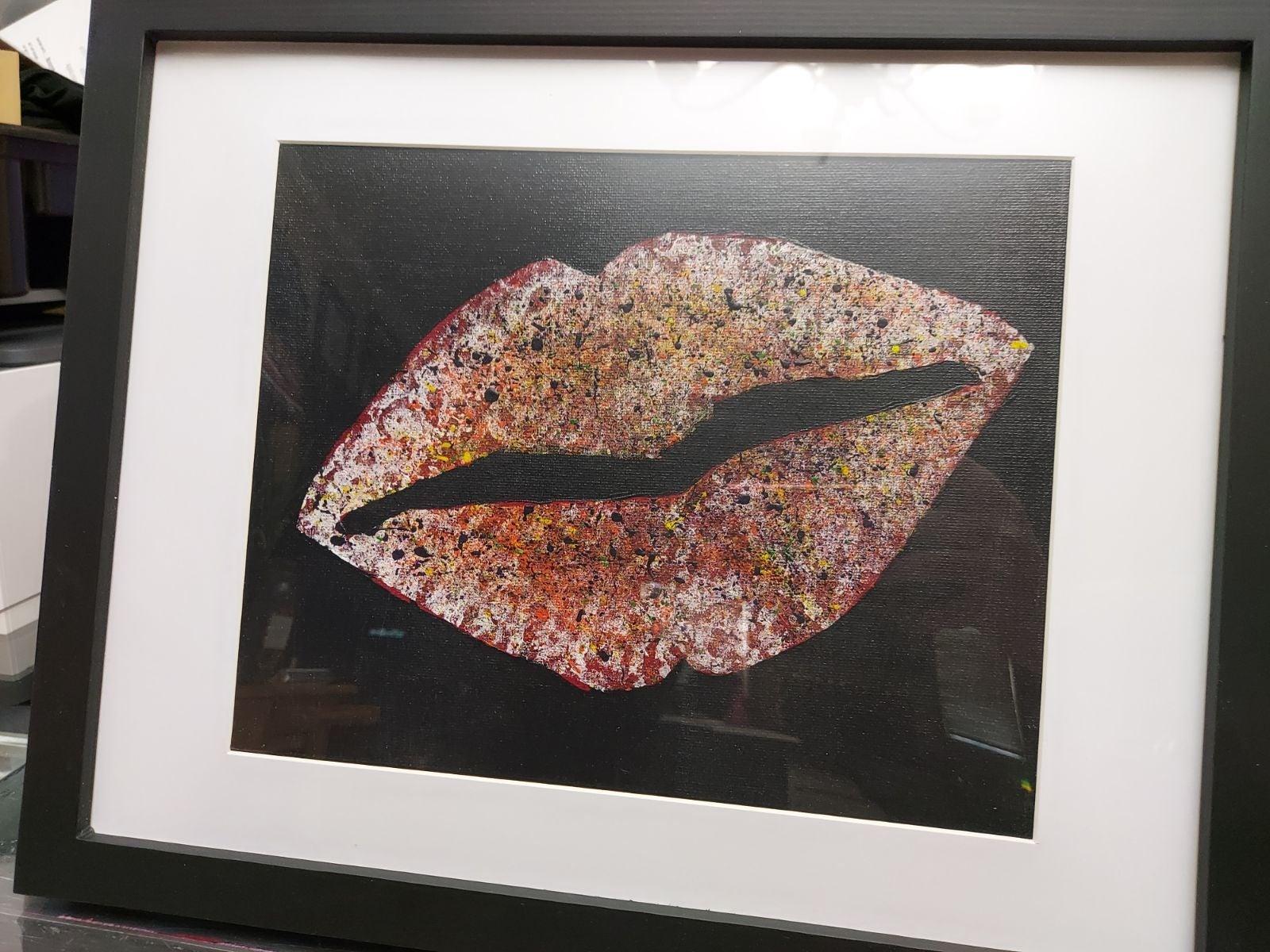 "8"" x 10"" Lips Acrylic Painting"
