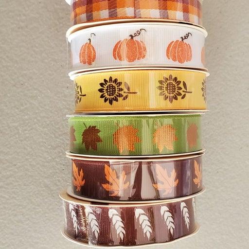 7 Fall Thanksgiving Ribbons NEW