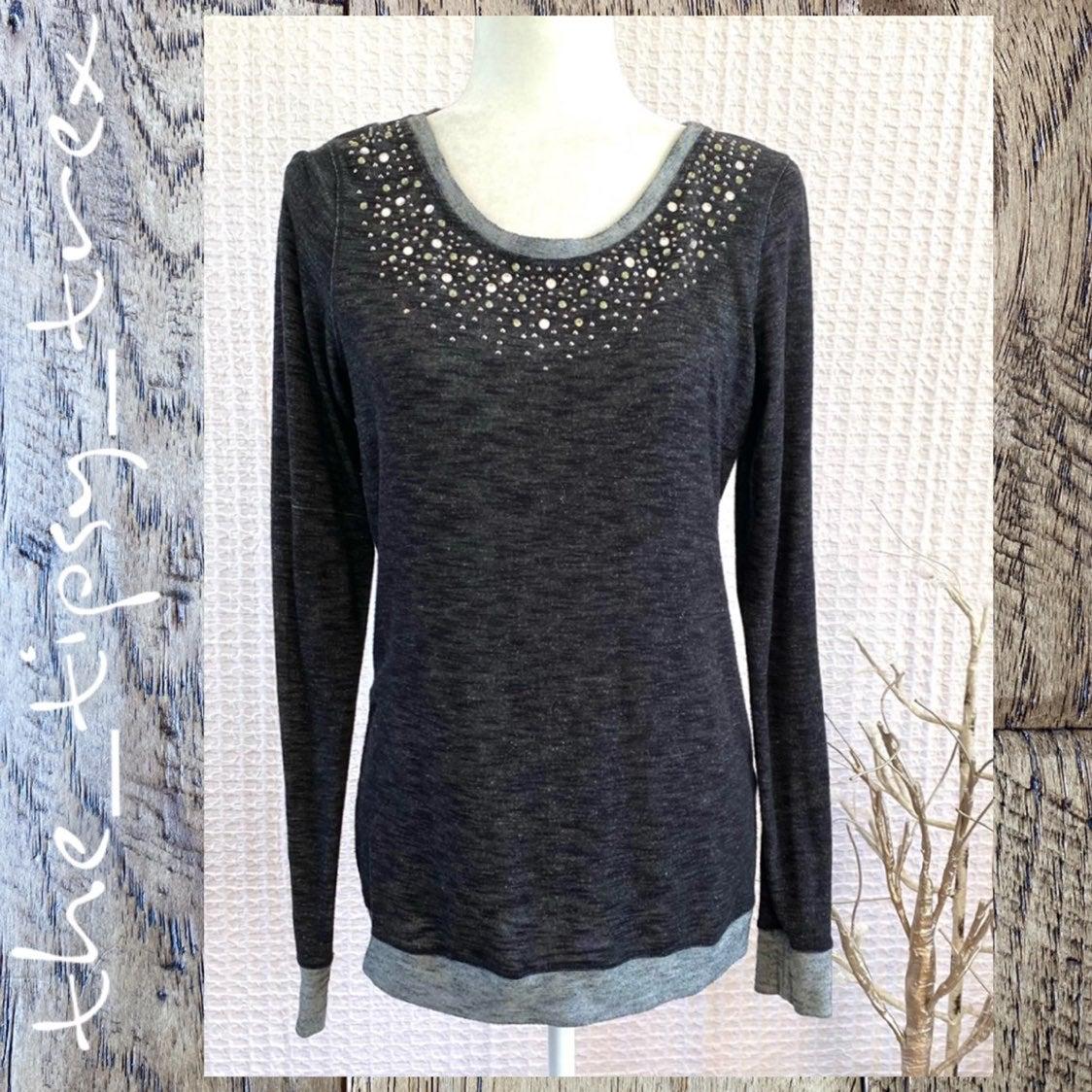 Maurices Sparkle Jeweled Sweatshirt M