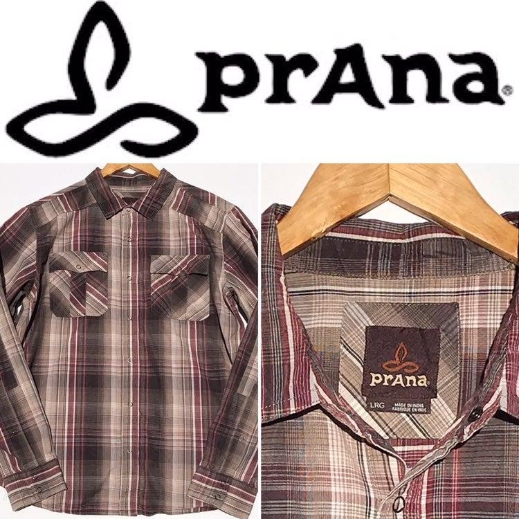 PRANA mens Snap Front Shirt