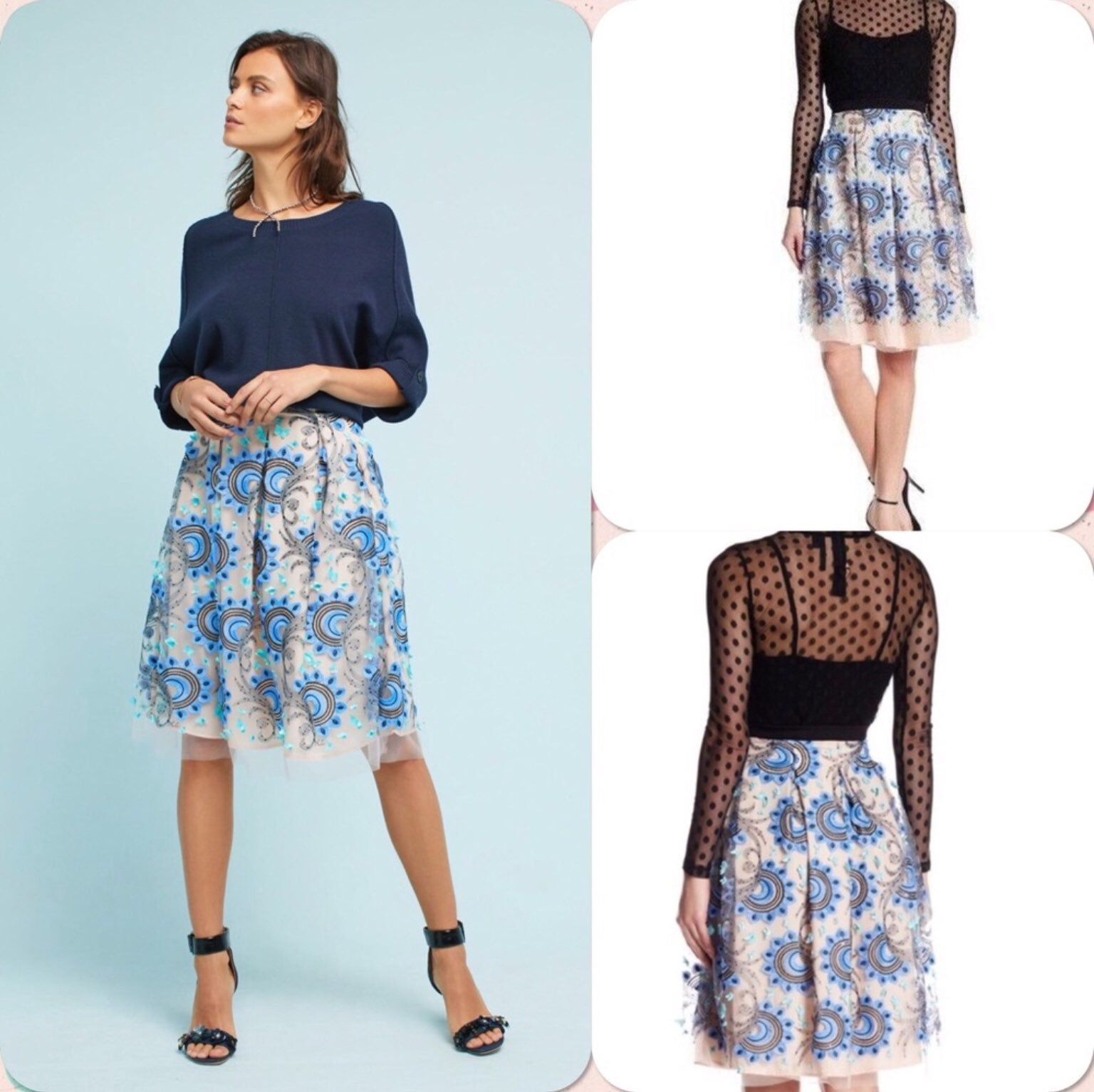 NWT Anthro Eva Franco Tulle Skirt Sz 0