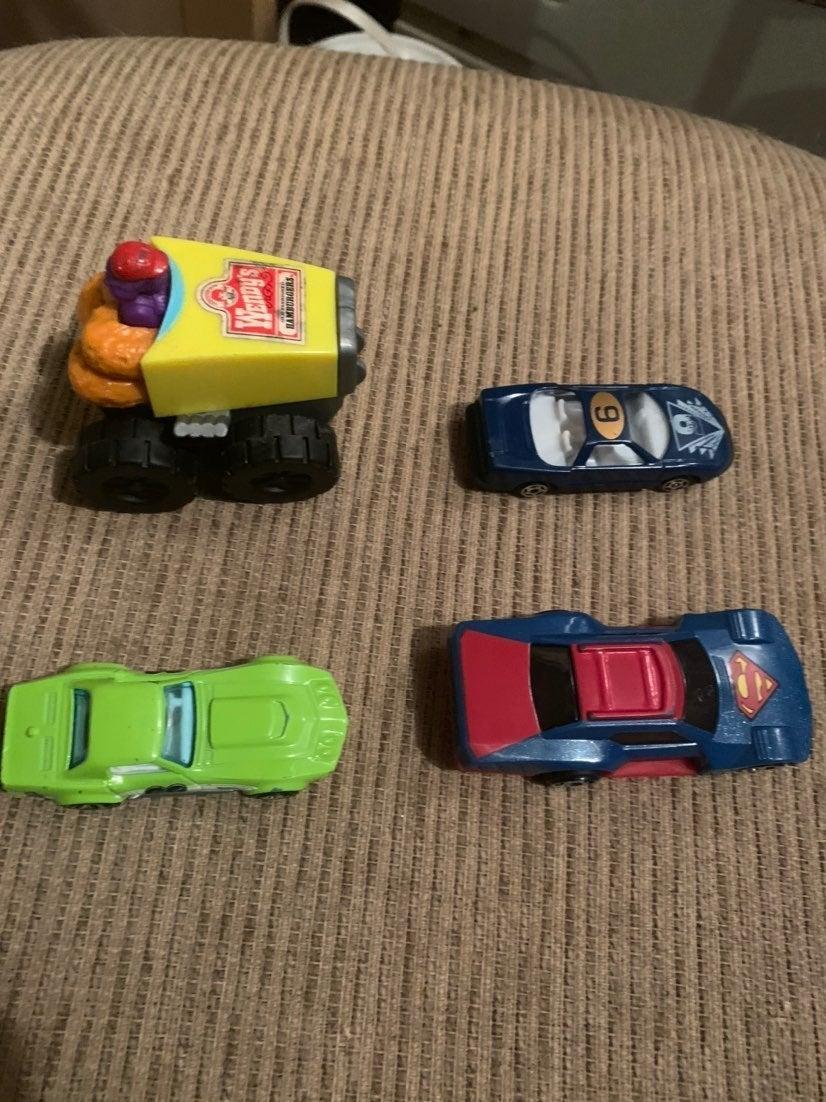 3 Cars and one Zamboni toy