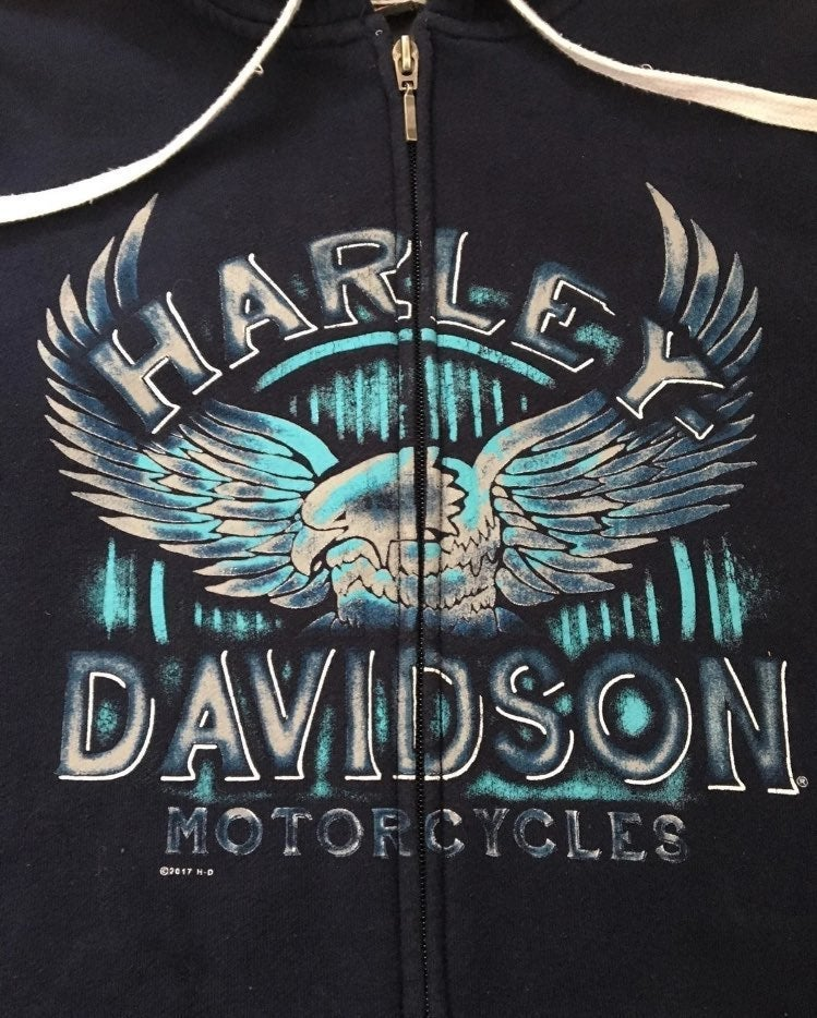 Harley-Davidson hoodie sweatshirt zip up