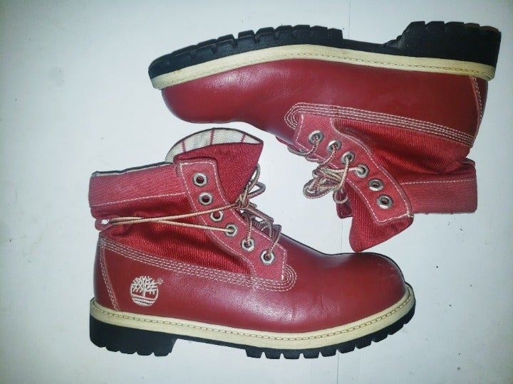 TIMBERLAND ROLLTOP Leather Boot Kid 4.5