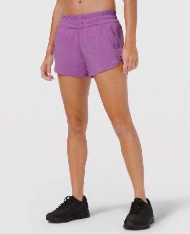 Lululemon Seawheeze purple tracker short