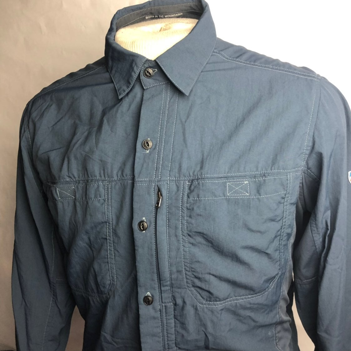 Kuhl Men's Long Sleeve Button Front Med