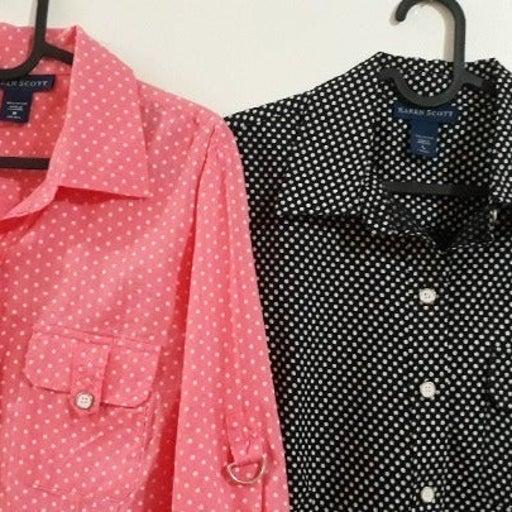 Two(2) Karen Scott 100% Cotton Shirts