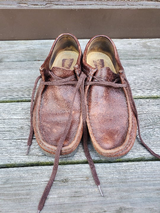 CLARKS Wallabee Brown Leather Shoes sz 8