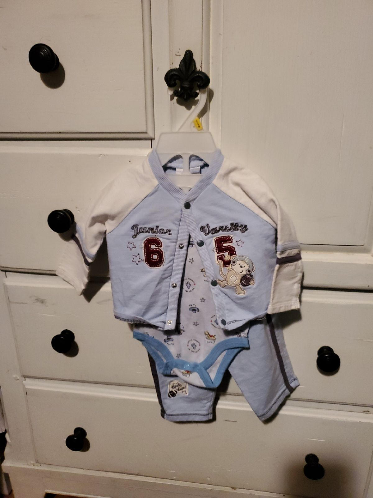 Vitamins baby 3 pc outfit 6m