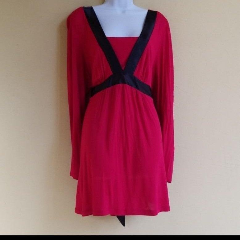 J.T.B. Pink Black Tshirt Satin Dress