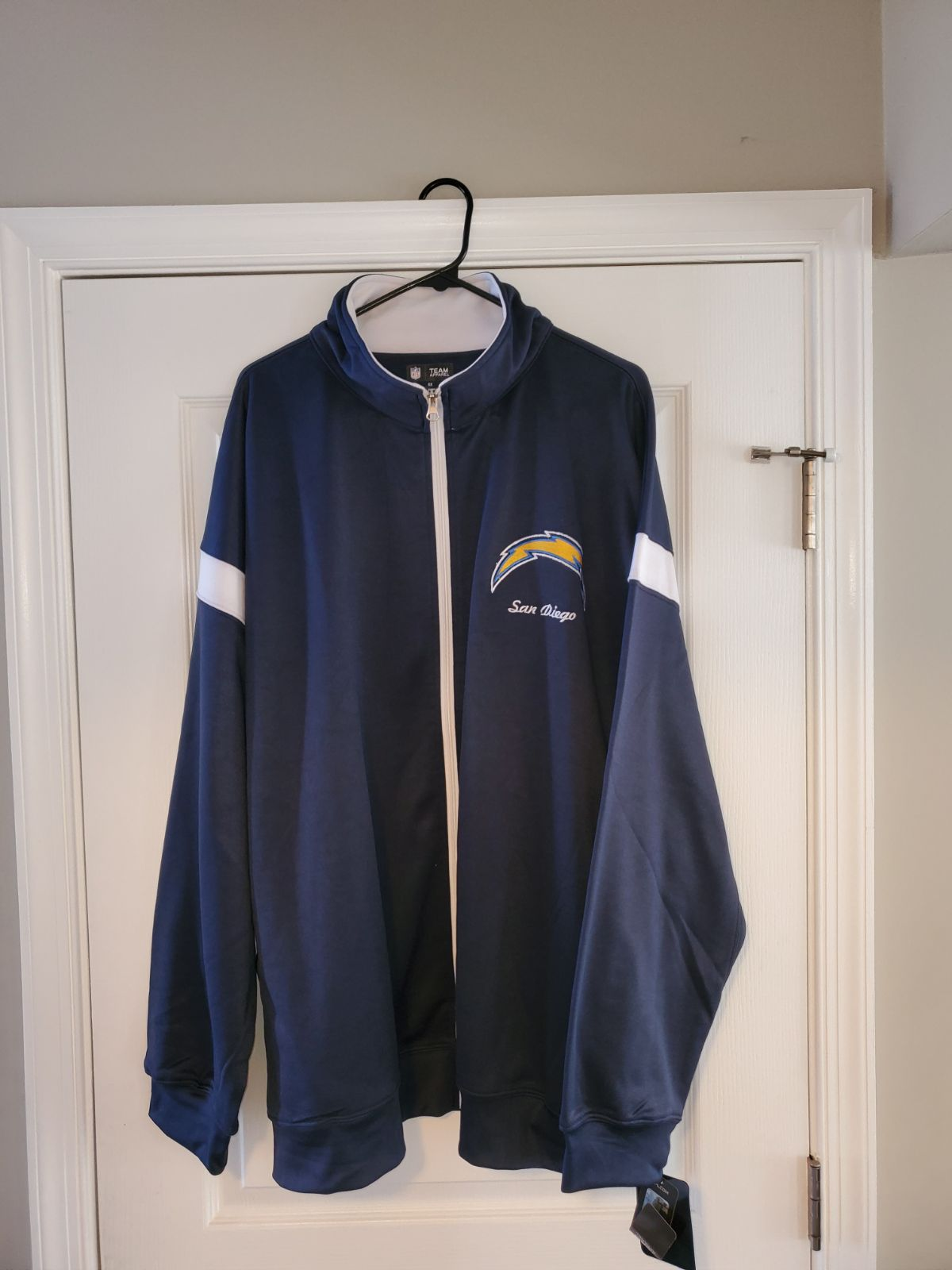 SAN DIEGO CHARGERS FULL ZIP JACKET 5XL