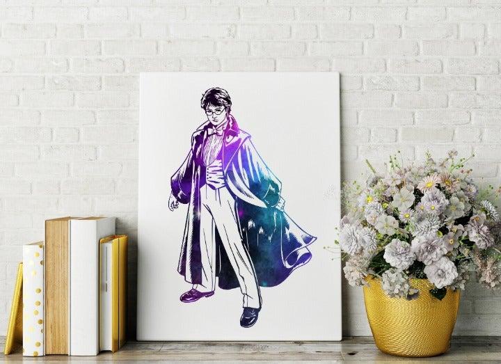 8x10 Harry Potter Galaxy Canvas Wall Art