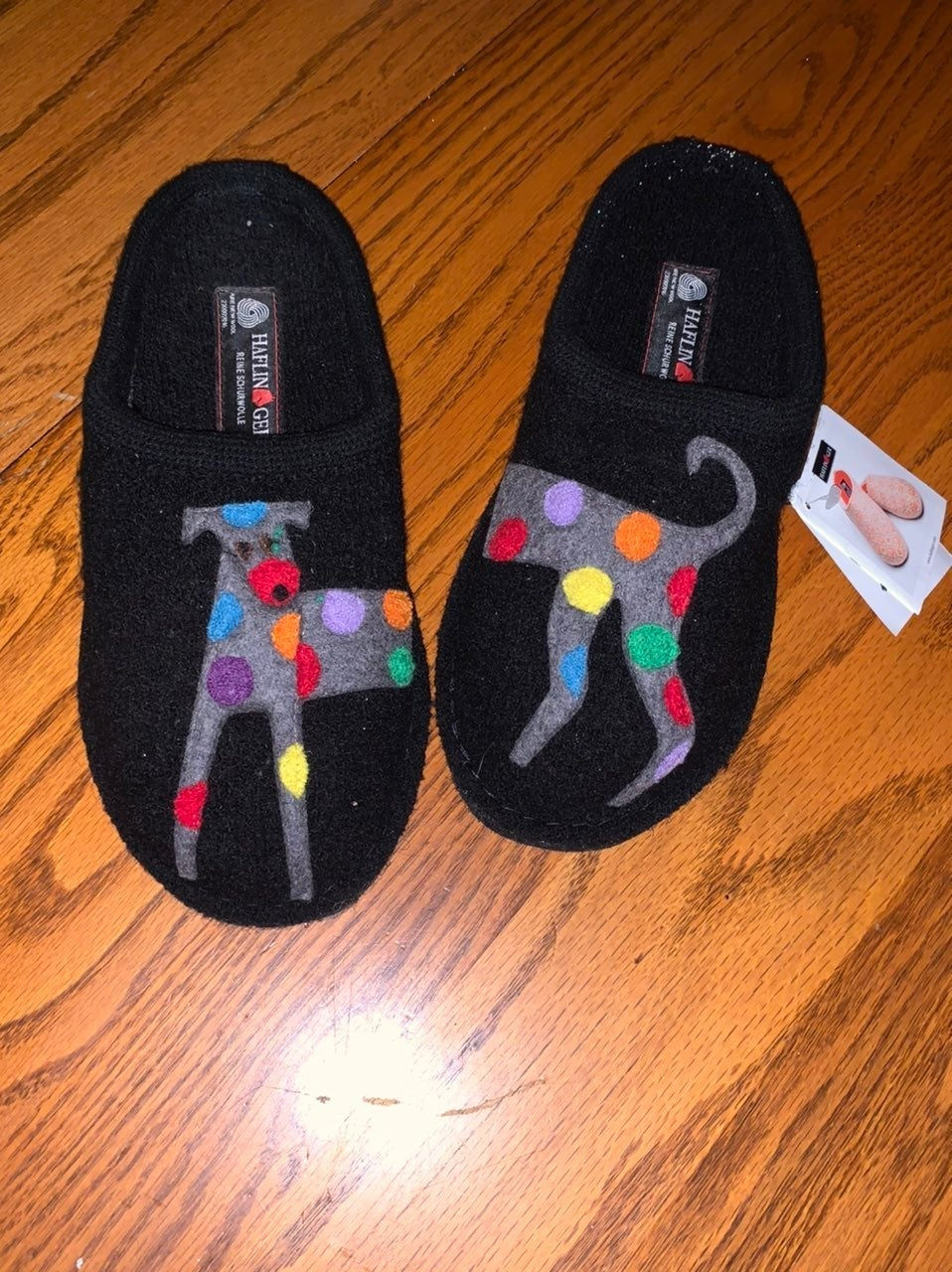 Haflinger jack black slippers 38