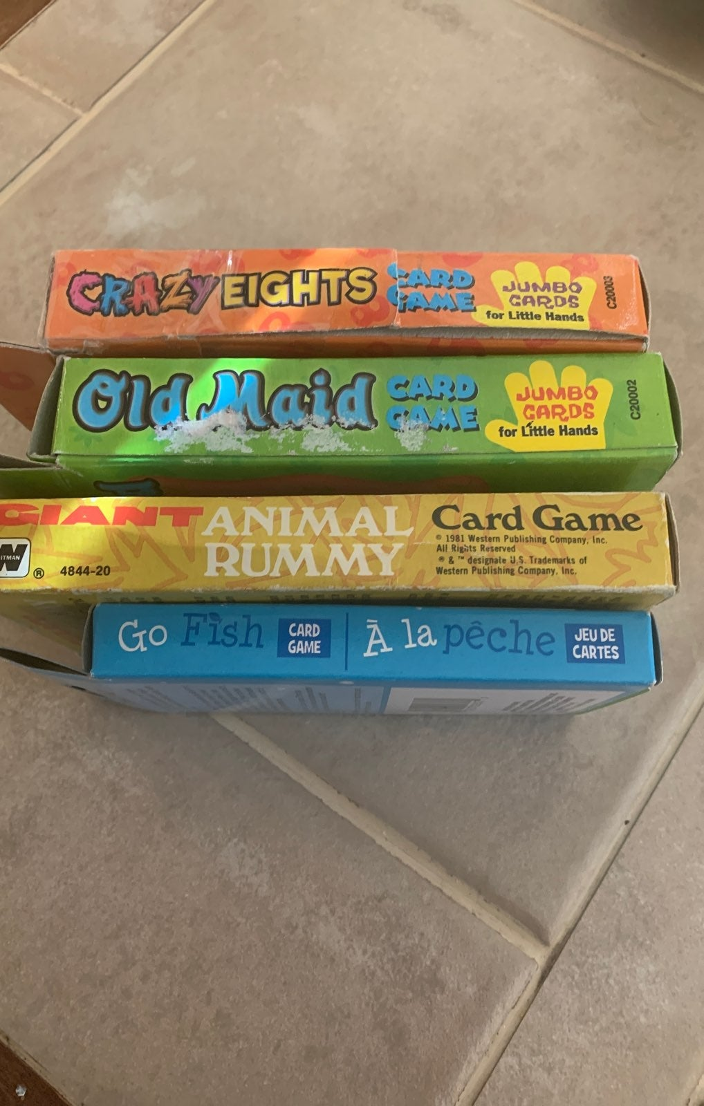 4 pack of kids card games
