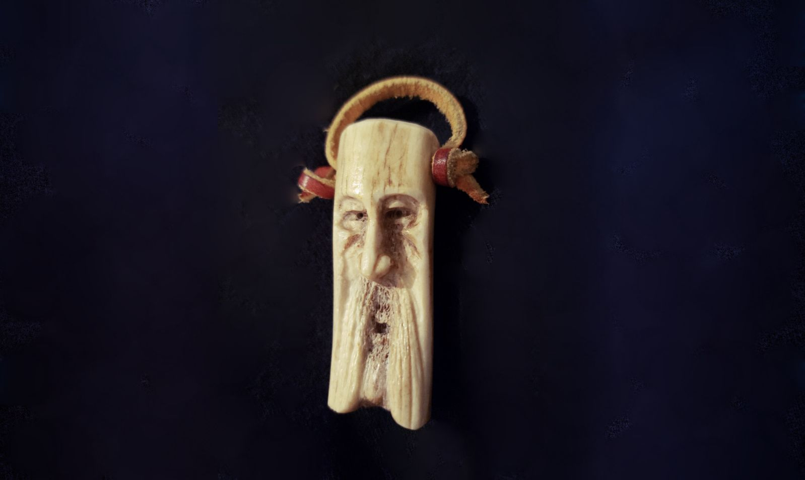 Old Man Antler Carving