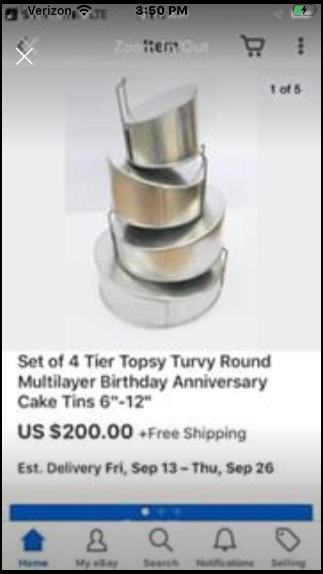 Topsy Turvey round cake pan set