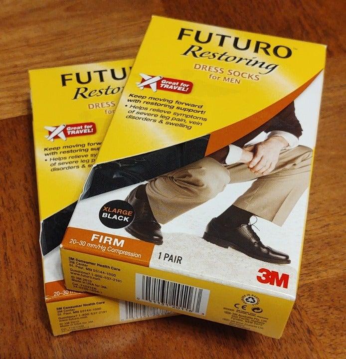 2 FUTURO Men XL BLACK compression Socks