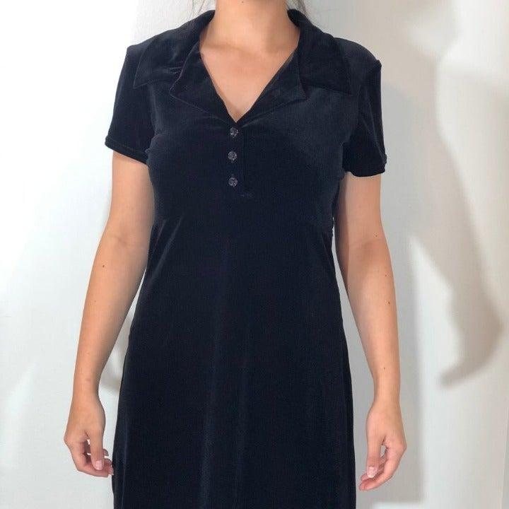 Jonathan Martin Black Velvet Dress