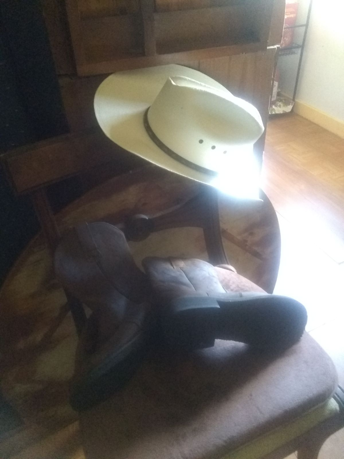 women's boots and hat