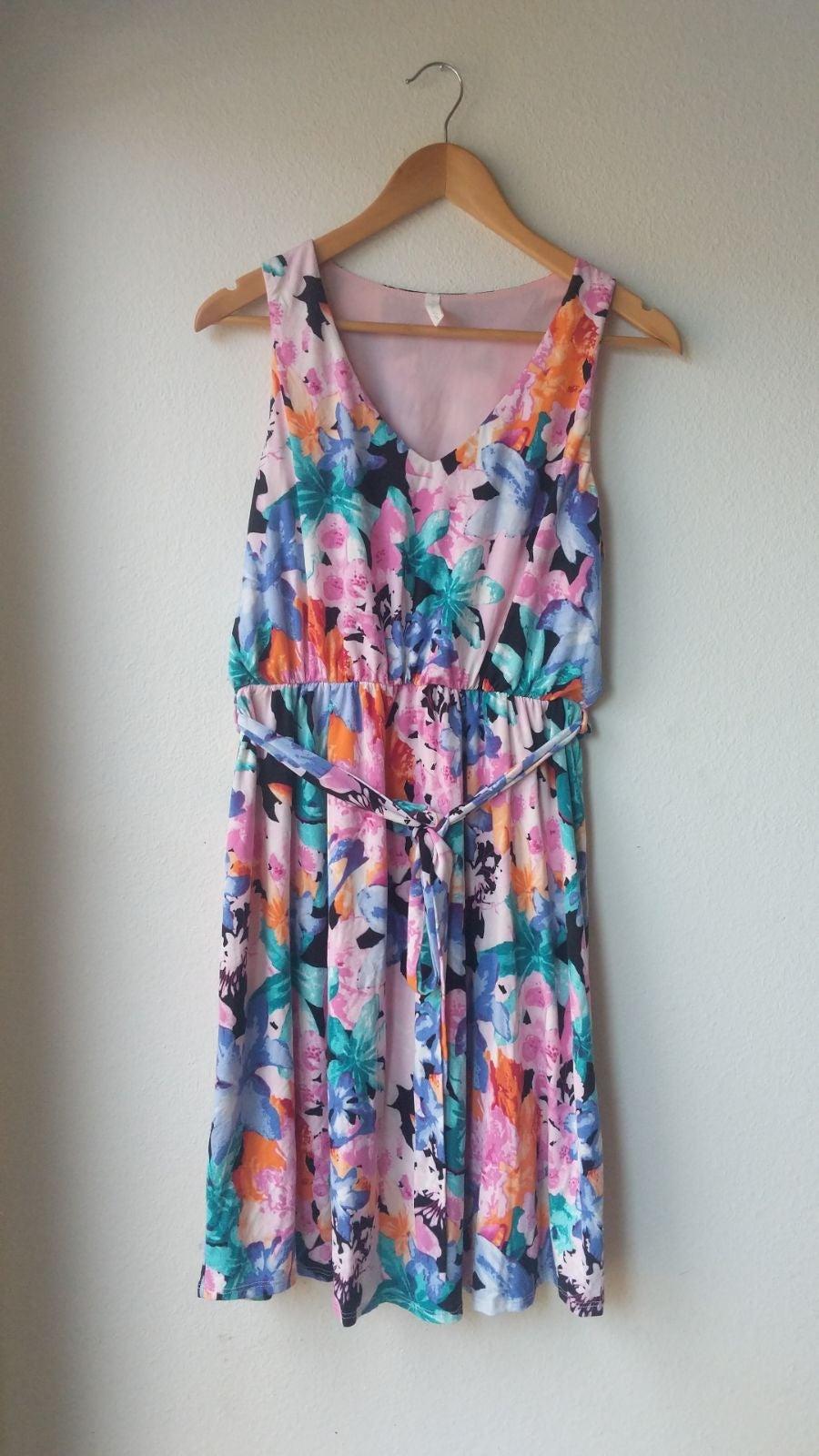 Pinkblush floral summer maternity dress