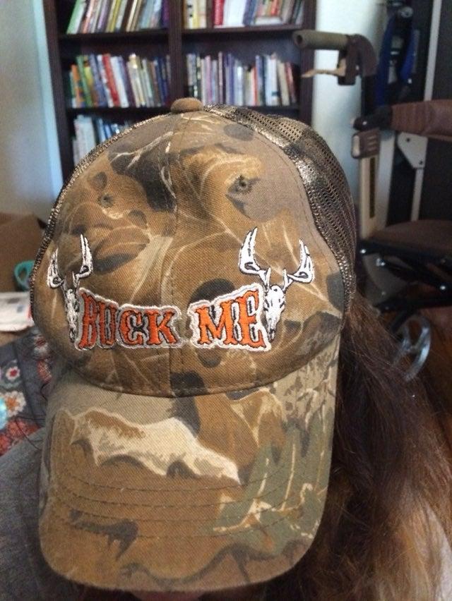Buck Me camo hat