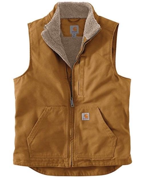 Carhartt sherpa lined mock neck Vest