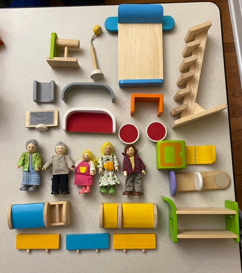 Lot 24: Plan Toys Wooden Furniture