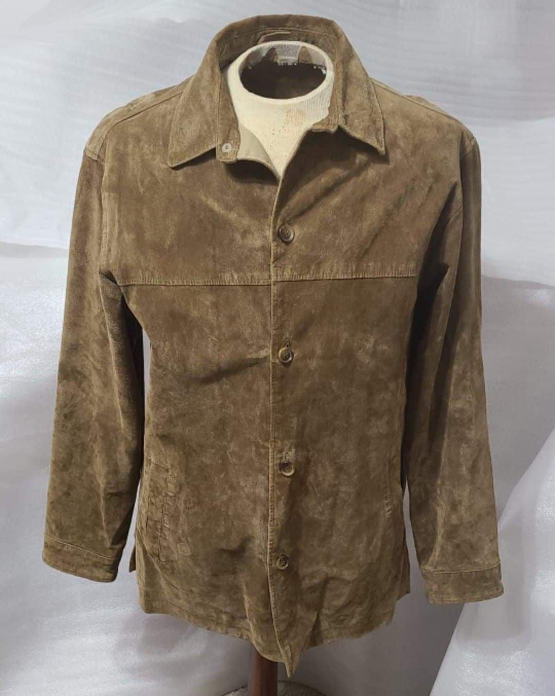Vintage Dockers M Suede Button Up Jacket